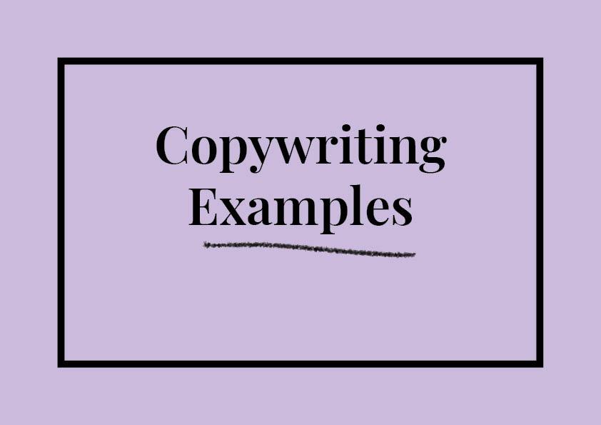 Copywriting Examples