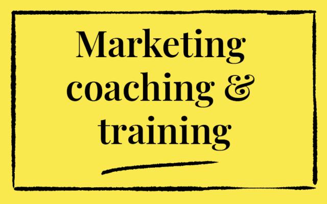 Marketing coaching & training