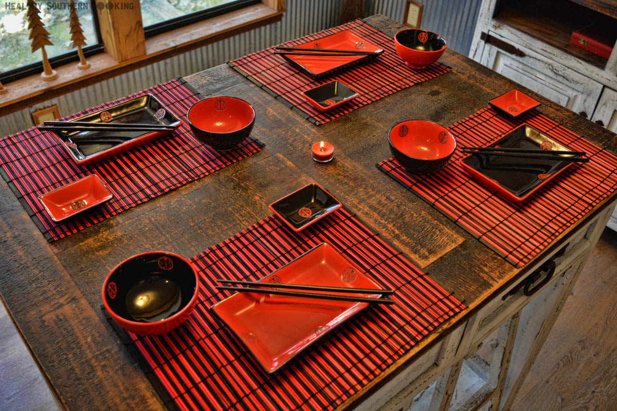 Red & Black Chinese Setting
