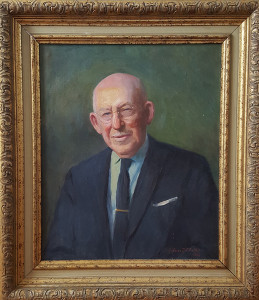 Painted portrait of Frank Treat Fulcher
