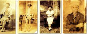 Some of Muzel's siblings, left to right Muzel's sister Mamie, brother Artis, sister Annie laura, and Muzel's son Charles who was born in 1925 and died in 1988.