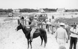 Marvin Howard astride one of the Banker Ponies, photo courtesy Mary Ruth Jones Dickson