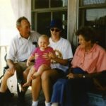 Charles and Robbie Runyon 1995 with Sierra Gillespie 6 mo and Rebecca Skinner 21 yrs