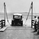 Charlie Mac loading on the ferry courtesy Alice Rondthaler Collection