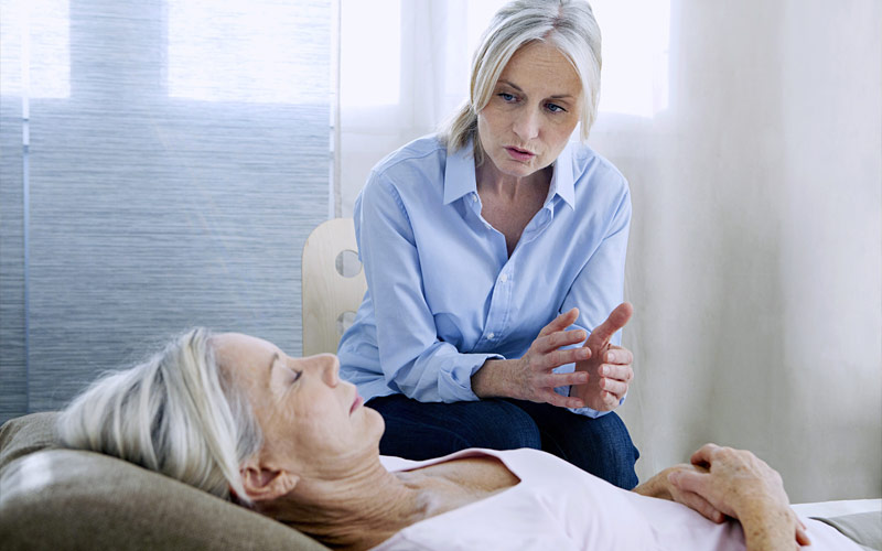 Woman in hypnotherapy training