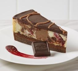 Chocolate Raspberry Marble Cheesecake made with Ghirardelli