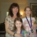 Audrey with recital kids