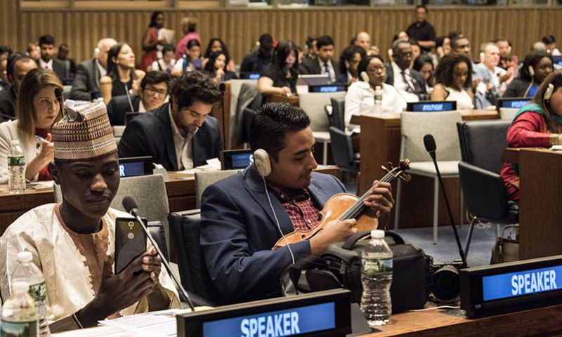 International Youth Day showcases young peoples' role in building peace (II)