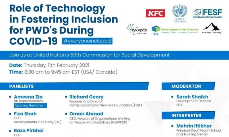 Role of Technology in Fostering Inclusion for PWD's During COVID19