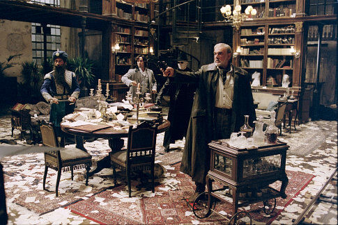 Dorian Gray's neglected library from A League of Extraordinary Gentlemen