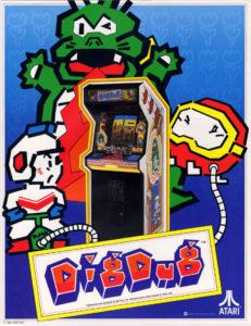 dig dug arcade game graphic