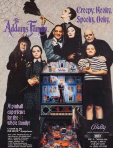 ADDAMS-FAMILY-pinball-flyer game graphic