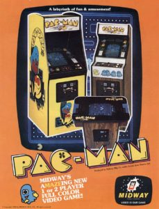 PAC-MAN-ARCADE-FLYER game graphic
