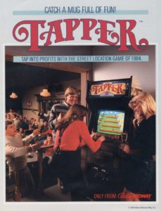 TAPPER-arcade-flyer game graphic