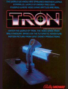TRON-arcade-flyer game graphic