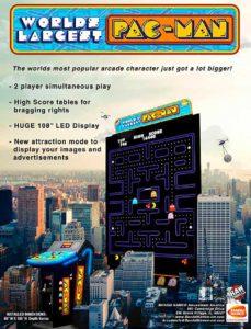 WORLDS-LARGEST-PAC-MAN-arcade-flyer game graphic