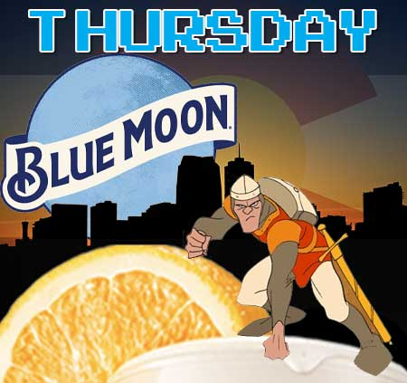 Thursday Blue Moon beer special