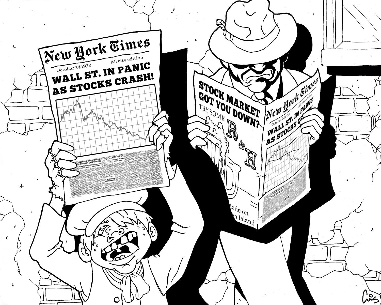 Stock Crash Illustration