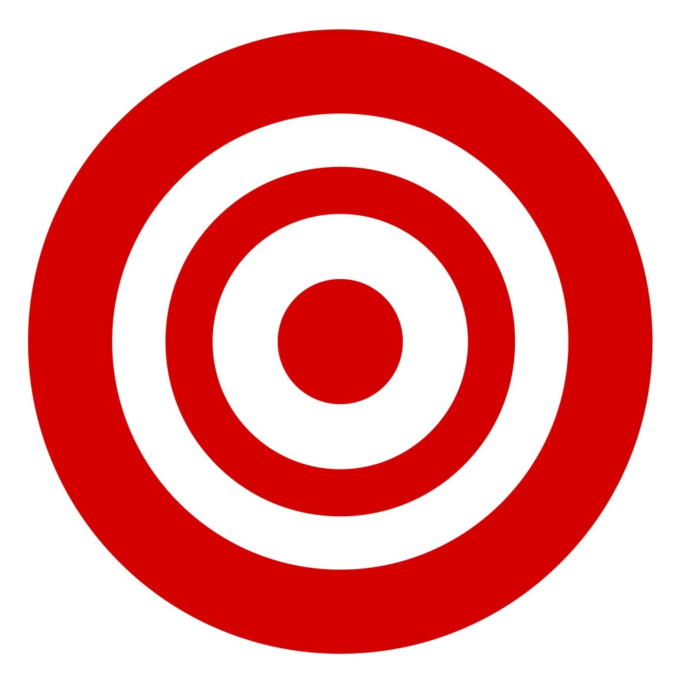 Target symbol isolated on white. Accuracy, target, aiming concept icon.