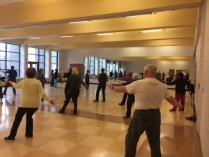typical tai chi practice at White Oak recreation center