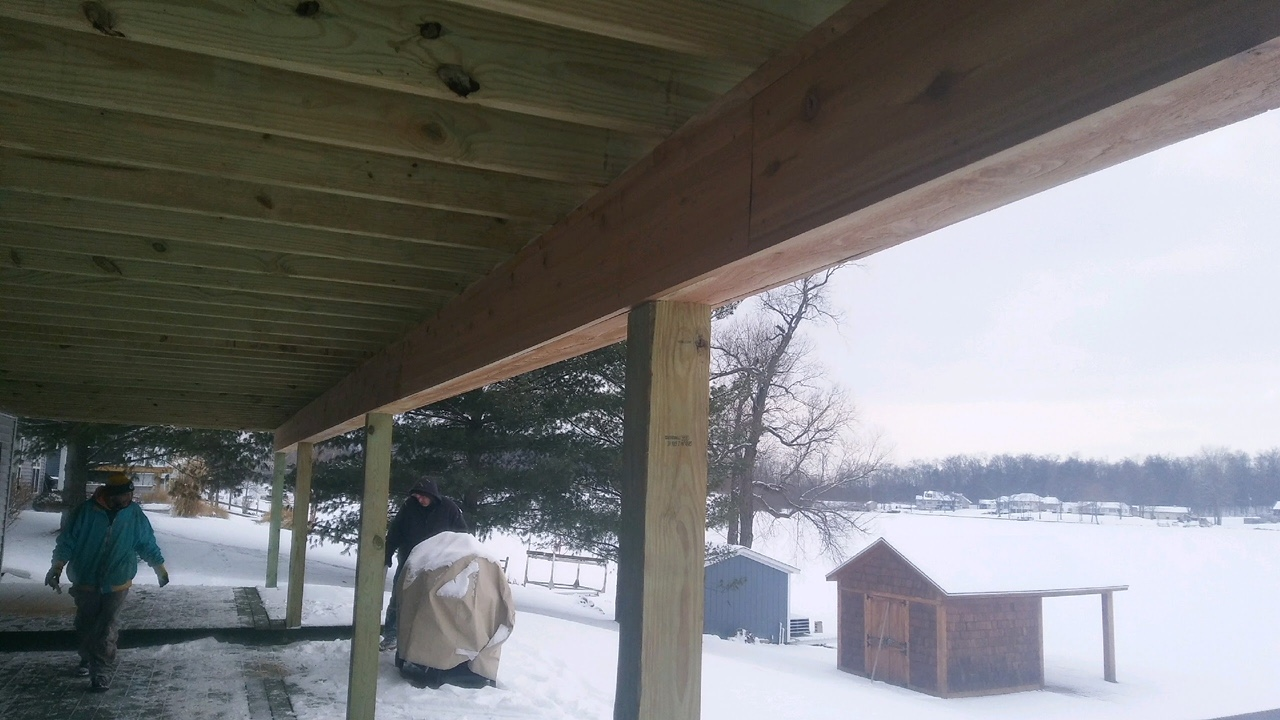 second story deck installation