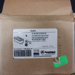 APPLETON ERLB75 3/4″ Conduit Outlet Box for Hazardous Locations