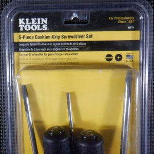 Klein Tools 85075 5-Piece Cushion Grip Screwdriver Set