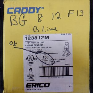 Erico Caddy 123812M (100 Pieces) Z Purlin Clip 1/2-3/4 Inch