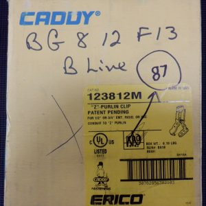 Erico Caddy 123812M (87 Pieces) Z Purlin Clip 1/2-3/4 Inch