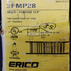 Erico Caddy 2FMP28 (35 Pieces) Multi-Purpose Clip – New Open Box