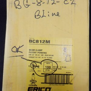 Erico Caddy BC812M (100 Pieces) Beam Clamp 1/2 or 3/4 EMT