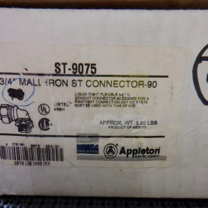 Appleton ST-9075 3/4″ Mall Iron Connector (10pc) 90 Degree