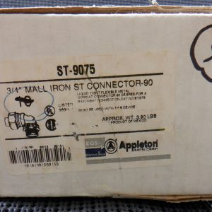 Appleton ST-9075 3/4″ Mall Iron Connector (9pc) 90 Degree