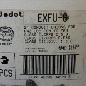 Red Dot EXFU-6 2″Conduit Union Hazardous Location Female To Female