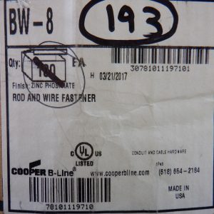 Cooper B Line BW-8 (193 Pcs) Rod And Wire Fastener