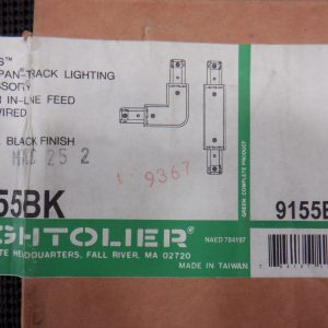 "Lightolier 9155BK Radius Lytespan-Track Lighting Accessory ""L"" Feed Pre-Wired"