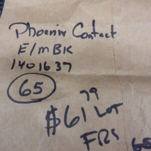 Phoenix Contact E/MBK 1401637 (65 Pcs) End Bracket 6.2mm Gray