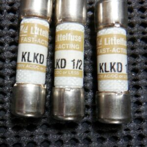 Littelfuse KLKD 1/2  1/2 Amp 600 Volt Fast Acting Fuse – 3 Pieces