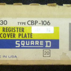Square D 8030 CBP-106 Sy/Max Symax Register Rack Slot Cover Plate NEW