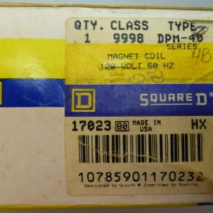 Square D 9998 DPM-48, CL9998 TYDPM48 208V Magnetic Coil NEW