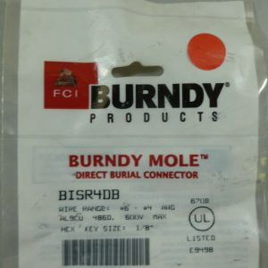 Burndy BISR4DB 6 – 4 AWG Direct burial Connector NEW
