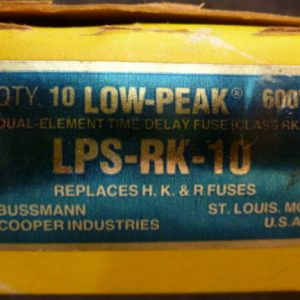 Bussman LPS-RK-10 10A 600V Dual Element Time Delay RK1 Fuse Box of 10 NEW
