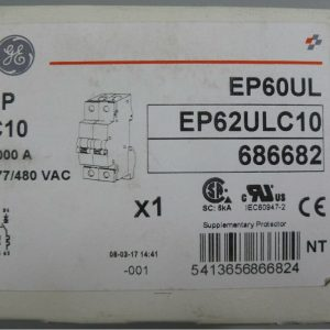 General Electric EP62ULC10 C10 A 2 Pole 277/480 Volt Circuit Breaker 686682 New