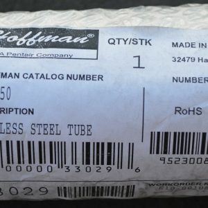 HOFFMAN CCSST50 STAINLESS STEEL TUBE NEW 100000330296 NEW