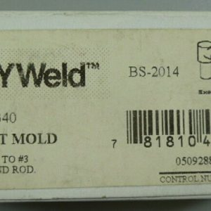 Burndy Weld BS-2014 Single Shot Mold #1 to #2 NEW