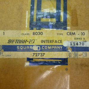 Square D 8030 CRM-10 SY/MAX-20 INTERFACE SERIES A 72737 NEW