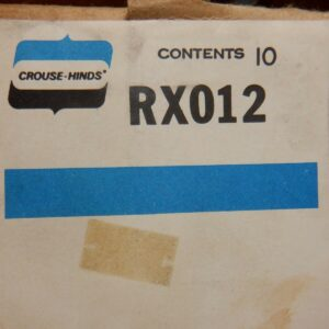 Crouse-Hinds RX012 5th Or 6th Jaw Terminal For Type R, S or A Meter – 10 Pieces
