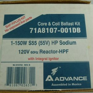Advance 71A8107001DB – 150 Watt – High Pressure Sodium Ballast Core & Coil Kit