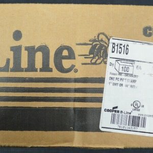 B-Line B1516 (100 Pieces) One Piece Pipe Clamp 1″ EMT or 3/4″ Rigid New