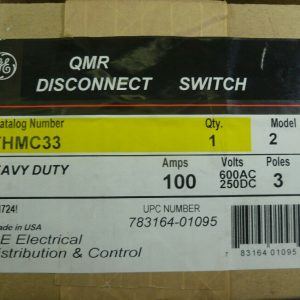General Electric THMC33 100A 600V 3P Heavy Duty QMR Disconnect Switch New